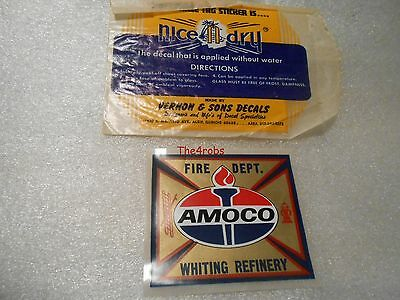 Vintage Amoco Whiting Refinery Fire Department Decal Sticker