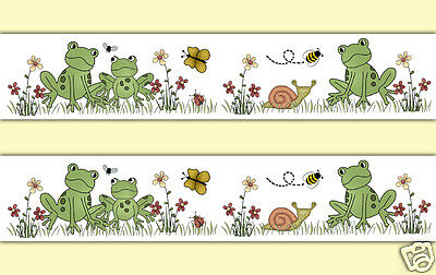 Frog Wallpaper Border Wall Decals Baby Boy Girl Nursery Froggy Kids Room Decor