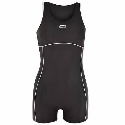 Slazenger Womens Boyleg Swimsuit Ladies Swimming Costume Beachwear