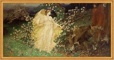 Venus and Anchises William Blake Richmond Mythologie Götter Löwen B A2 03483