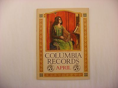 Original Columbia Phonograph Record Catalog - April, 1917