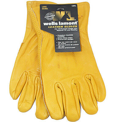 Wells Lamont Premium Leather Mens Work Gloves Medium Large Extra Large  M L XL