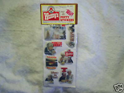 1984 WENDY'S PUFFY STICKERS Where's The Beef? SEALED