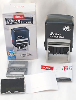Shiny S-826D Adjustable Self-Inking Stamp