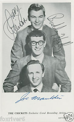 BUDDY HOLLY & CRICKETS Signed Photograph - 1950s Rock & Roll Musicians / Stars