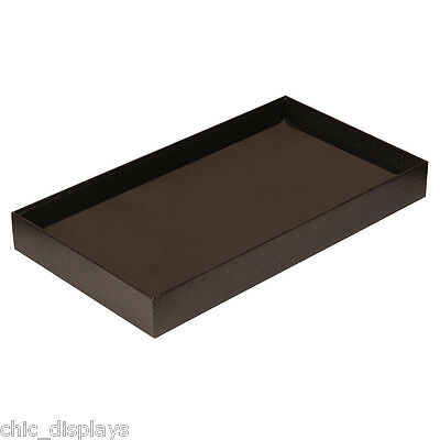 "1"" High Wooden Jewelry Tray Leatherette Covered Display Tray Wooden Tray <Deal>"