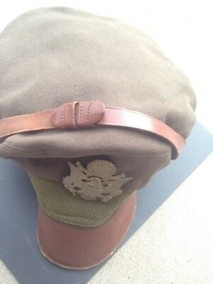 WWII Bancroft flighter USA Air Corps force Officer visor cap hat WW1 Army NAMED