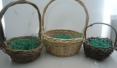 # 7 - Lot of 3 Large Baskets with Handles
