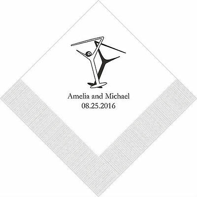 300 Martini Glasses Personalized Wedding Cocktail Napkins