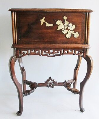 Fine 19th C. Japanese Meiji-Era Carved Rosewood Planter  c. 1890   antique table