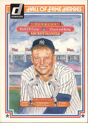 MICKEY MANTLE 1983 DONRUSS HALL OF FAME HEROES #43 AB7682