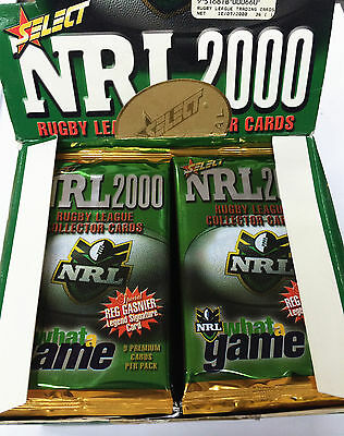2000 Select NRL Trading Cards Inaugural Series 4-Sealed Pack Unit