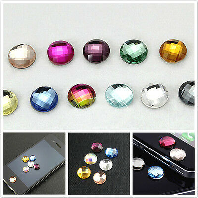 10 Pcs Bling Crystal Diamond Home Button Sticker For iPhone 4 4s 5 5s 6 6 Plus