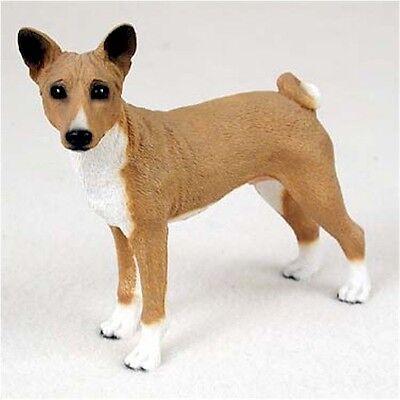 Realistic Hand Painted Elegant Basenji Figurine Crafted in Cold Cast Resin