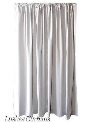 15 ft H White Velvet Curtain Long Panel Extra Tall Drapery For Stage Background