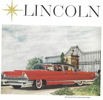 1956 Lincoln Automobile 3 Vintage Print Ads Lincoln Premiere Convertible
