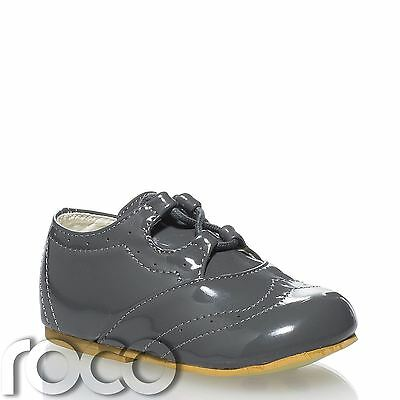 Baby Boys Grey Shoes, Baby Page Boy Shoes, Toddler Shoes, Baby Shoes