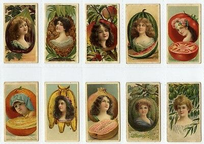 Full Set, B.A.T., Beauties, Fruit Girls 1903 (Gt721-100) Mainly G-VG