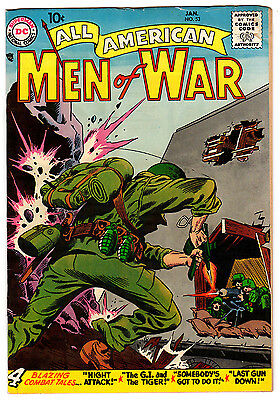 All American Men Of War #53 5.5 Kubert Cover Cream Pages Silver Age
