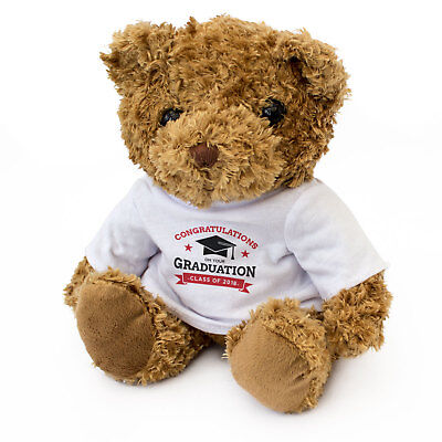 NEW - GRADUATION CLASS OF 2018 - Teddy Bear  - Cute And Cuddly - Gift Present