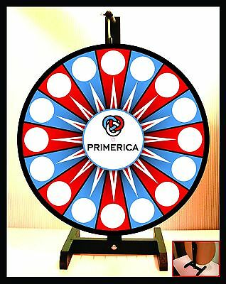 "Prize Wheel 18"" Spinning Tabletop Portable Primerica"