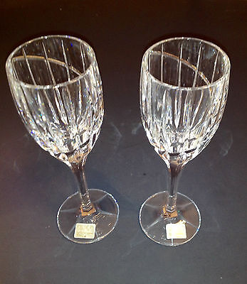 Mikasa Uptown Crystal Wine Goblets Set of 2 Glasses