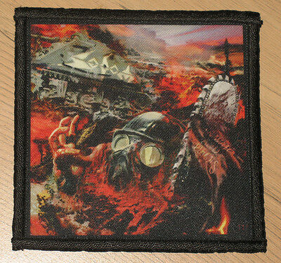 """SODOM """"IN WAR AND PIECES"""" silk screen PATCH"""