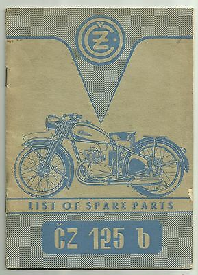 Set 3 1950s CZ 125 150 Motorcycle Factory Booklets Operation Manual Parts List