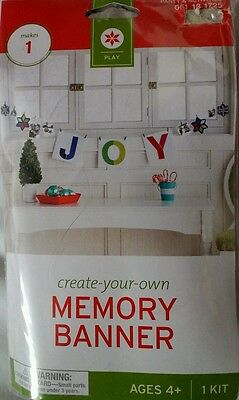 New JOY Memory Clothes Line  Banner Kit  Ages 4+ Includes mini wood Clothes pins