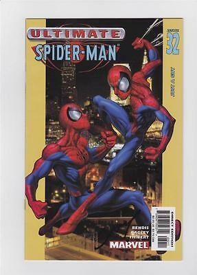 Ultimate Spider-Man 32 Signed By Mark Bagley W/coa Brian Bendis Marvel 1