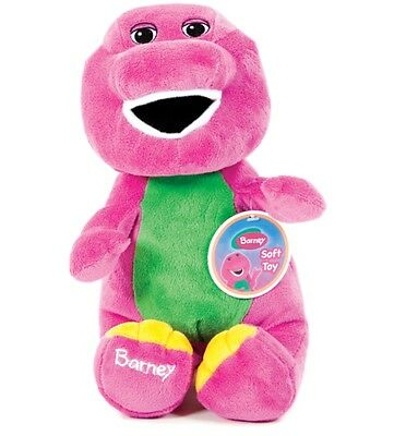 """Official Brand New 14"""" Sitting Barney Plush Soft Toy Barney"""
