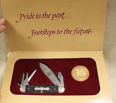 1985 VINTAGE LIMITED EDITION BOY SCOUTS DIAMOND JUBILEE #6701 KNIFE AND COIN