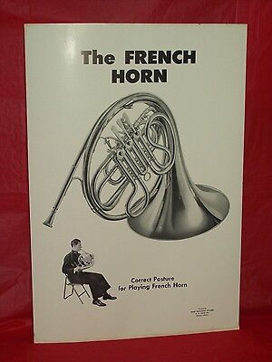 VINTAGE C.G. CONN BAND INSTRUMENT  PRINT/POSTER -  THE FRENCH HORN