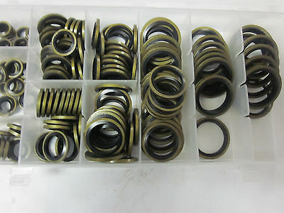 150pc BONDED OIL SEAL DOWTY WASHER ASSORTMENT METRIC 6 8 10 12 22 24MM #OSW-150