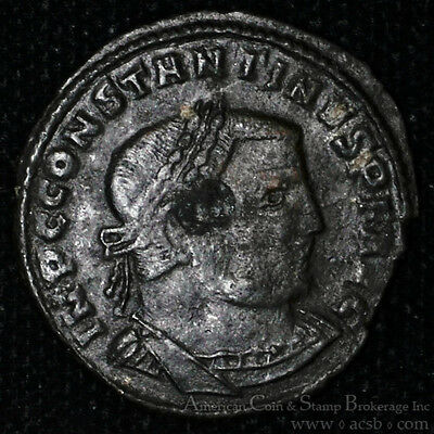 Constantine I 312AD bronze Follis The Great Ancient Roman Thessalonica Jupiter.