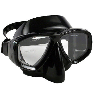 Store Display -All Black-Promate Pro Sea Viewer Scuba Dive Snorkel Purge Mask