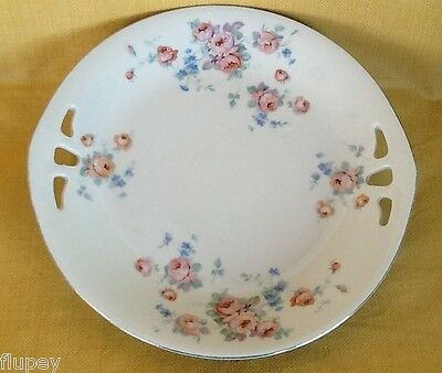 Germany Roman V Open Motif Handle Cake Plate