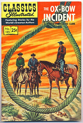 CLASSICS ILLUSTRATED #125(HRN 169)VF, THE OX-BOW INCIDENT, Stiff cvr,Comics 1970