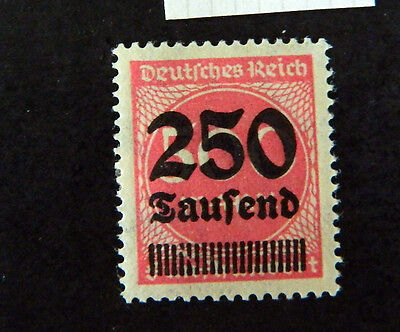1922 1923 germany reich officials numericals numeral 250 laufend over 500 mnh