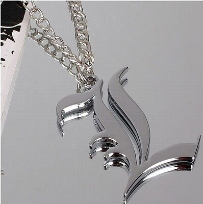 Death Note anime silver necklace L Lawliet