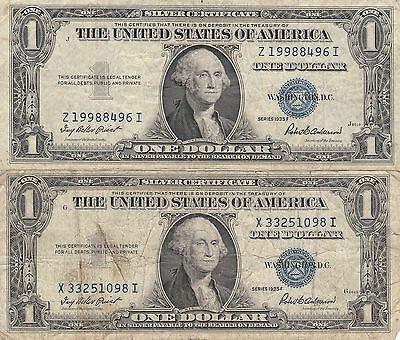 2 - 1934F  $1 United States Silver Certificates.