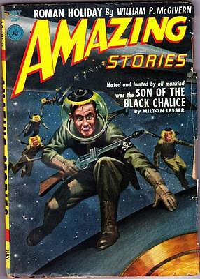 Science Fiction Pulp AMAZING STORIES July 1952 - Cover by Lawrence