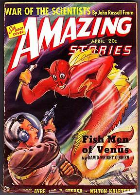Science Fiction Pulp AMAZING STORIES April 1940 - John Russell Fearn