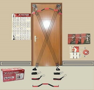 X-Factor Full Door Home Gym+ FREE Straight Bar, DVD+ Guide+ Chart NEW IN BOX