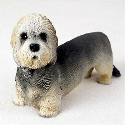 Realistic Hand Painted Dandie Dinmont Crafted in Cold Cast Resin Figurine