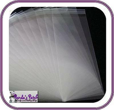 Clear Cellophane / Card Making Display Bags Peal and Seal - Free UK Post