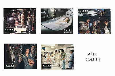 Alien - Set Of 5 A4 Sized Reprint Lobby Posters # 1