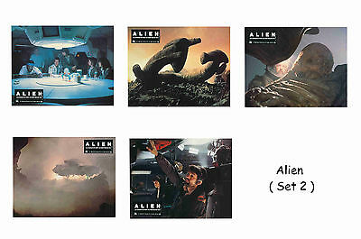 Alien - Set Of 5 A4 Sized Reprint Lobby Posters # 2
