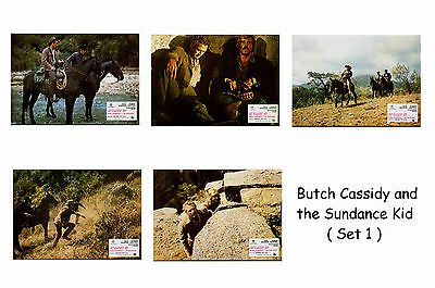 Butch Cassidy & Sundance Kid - Set Of 5 A4 Sized Reprint Lobby Posters # 1