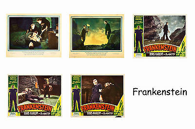 Frankenstein 1931 - Set Of 5 A4 Sized Reprint Lobby Posters # 1